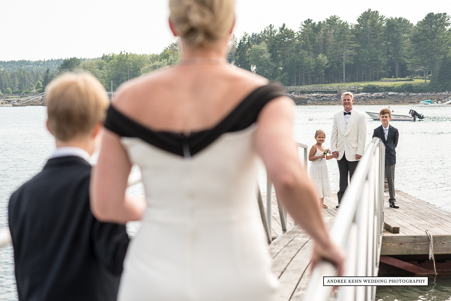 Dock Wedding in Maine