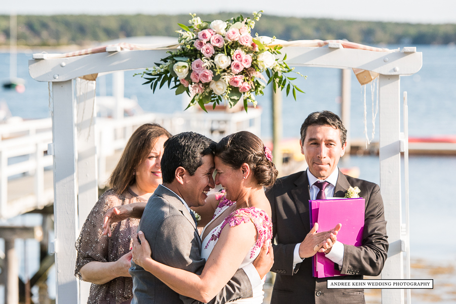 Ceremony at Linekin Bay Resport
