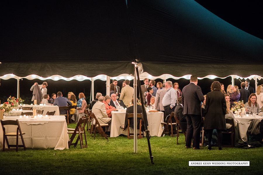 tented maine wedding